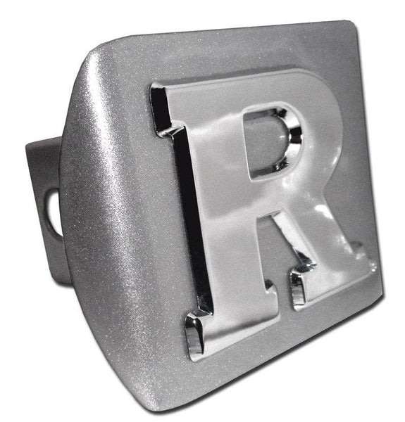 Rutgers University Brushed Chrome Hitch Cover