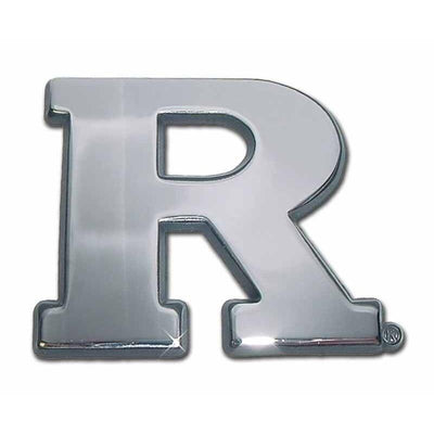 Rutgers University Chrome Car Emblem