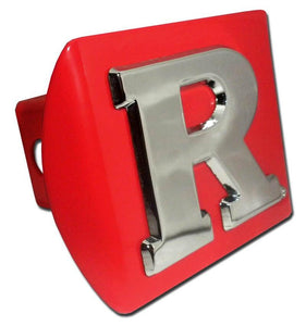 Rutgers University Red Hitch Cover - Chrome Car Emblems | Trailer Hitch Covers/Collegiate Car Emblems/Rutgers University - I AmEricas Flags