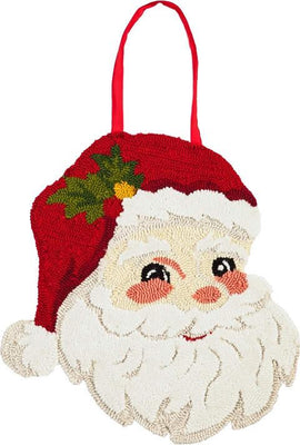 Santa Hooked Decorative Door Hanger