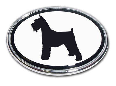 Schnauzer Chrome Car Emblem