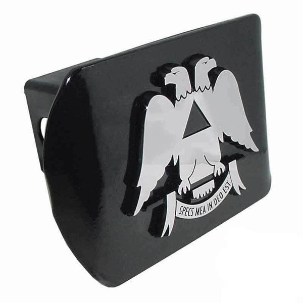 Scottish Rite Black Hitch Cover - Chrome Car Emblems | Trailer Hitch Covers/Masonic Car Emblems - I AmEricas Flags
