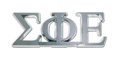 Sigma Phi Epsilon Fraternity Chrome Car Emblem