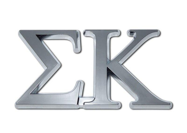 Sigma Kappa Sorority Chrome Car Emblem