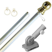 Silver 6ft Spinning Aluminum Flagpole Kit