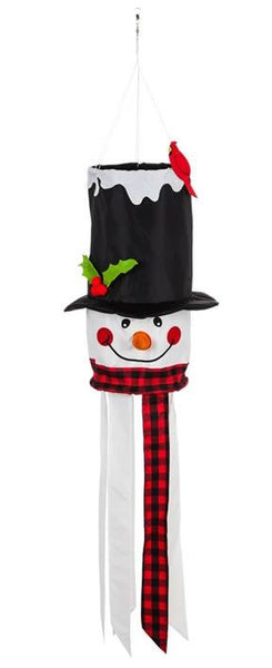 Smiling Snowman 3D Windsock - I AmEricas Flags