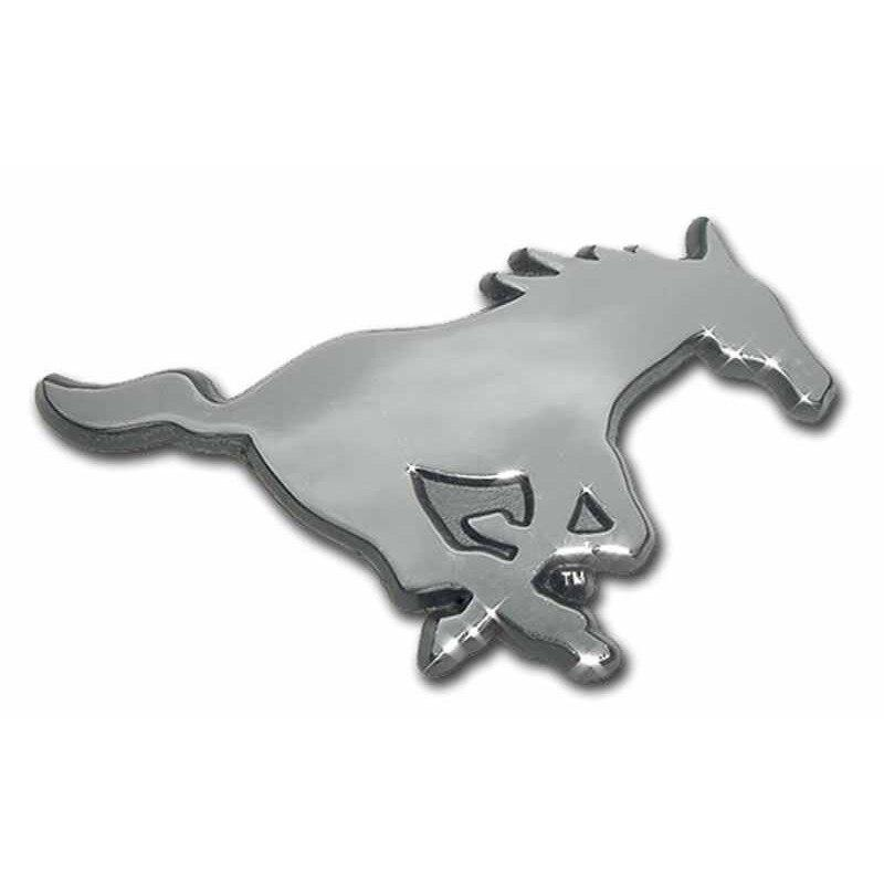 Southern Methodist University Mustang Chrome Car Emblem