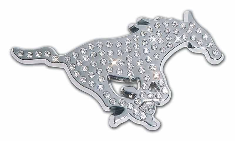 Southern Methodist University Mustang Crystal Chrome Car Emblem