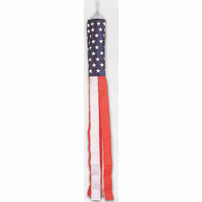 Stars and Stripes Shiny Windsock 60 Inch