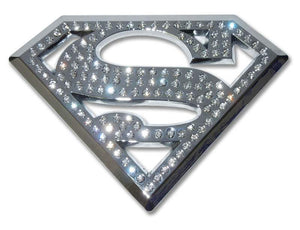 Superman Crystal Chrome Car Emblem - Chrome Car Emblems | Trailer Hitch Covers/DC Comics Emblems - I AmEricas Flags