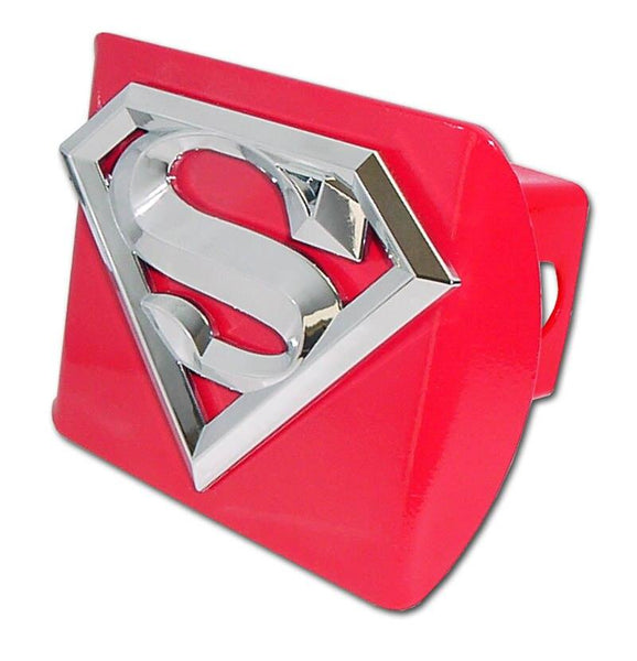 Superman 3D Red Hitch Cover - Chrome Car Emblems | Trailer Hitch Covers/DC Comics Emblems - I AmEricas Flags