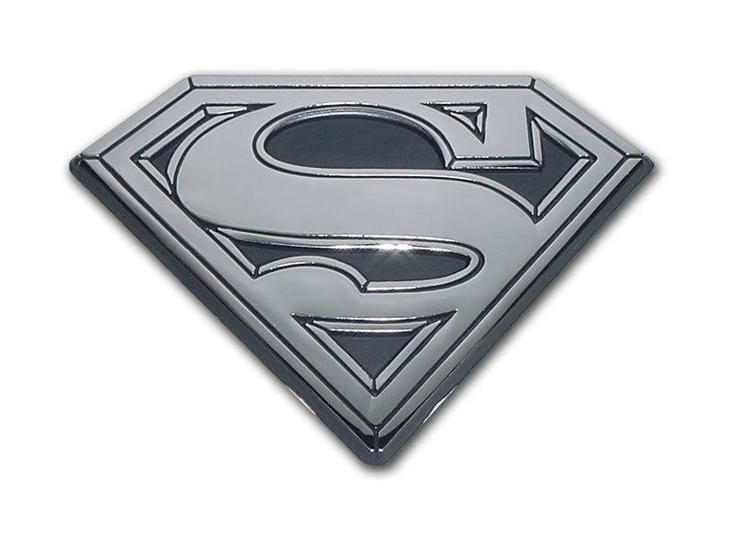 Superman Shield Chrome Car Emblem