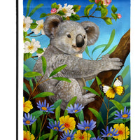 Sweet Koala Suede Reflections Garden Flag