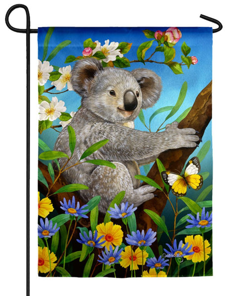 Sweet Koala Suede Reflections Garden Flag - I AmEricas Flags
