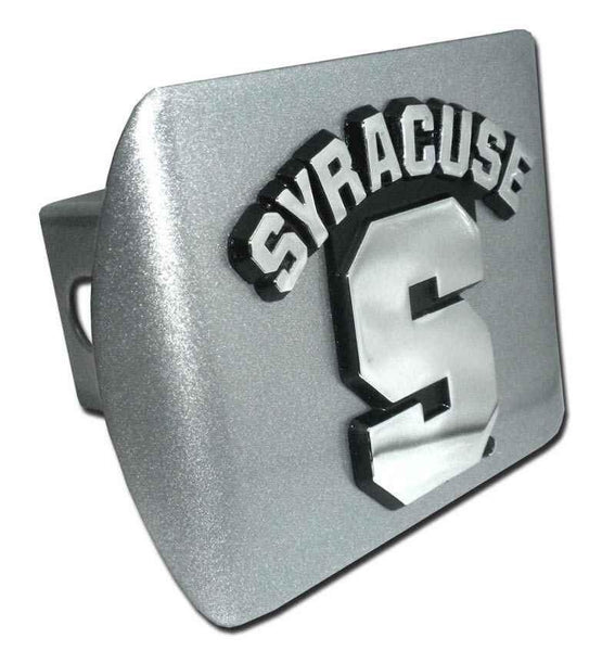 Syracuse University Brushed Chrome Hitch Cover