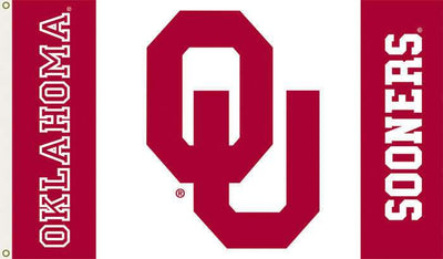 OU Sooners White with Crimson 3x5 Flag