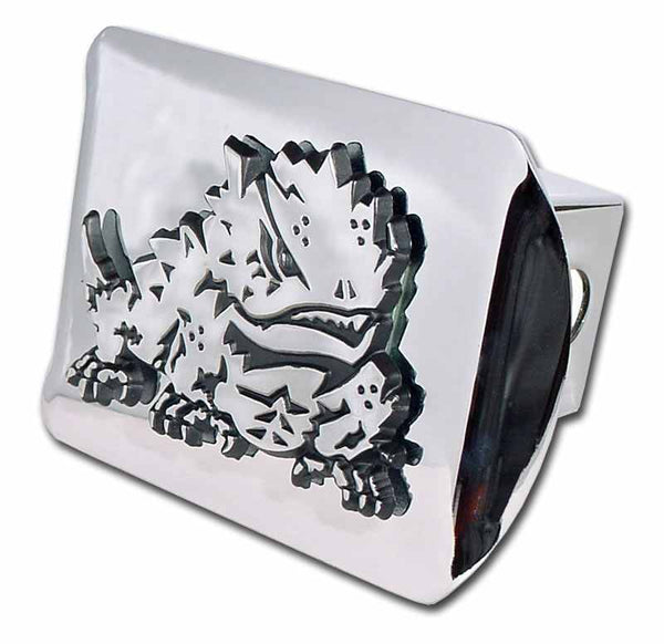 Texas Christian University Horned Frog Shiny Chrome Hitch Cover