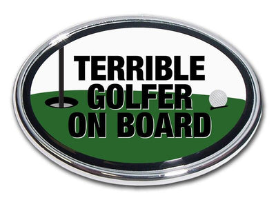 Terrible Golfer Chrome Car Emblem
