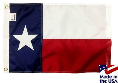 Texas Sewn Nylon 16x24 Boat Flag