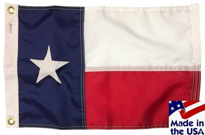 Texas Sewn Nylon 12x18 Boat Flag