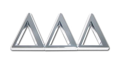 Tri Delta Sorority Chrome Car Emblem