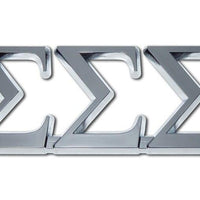 Tri Sigma Sorority Chrome Car Emblem - Chrome Car Emblems | Trailer Hitch Covers/Greek Fraternity and Sorority Emblems - I AmEricas Flags