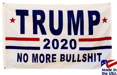 Trump 2020 No More BS 3x5 Flag Made in the USA