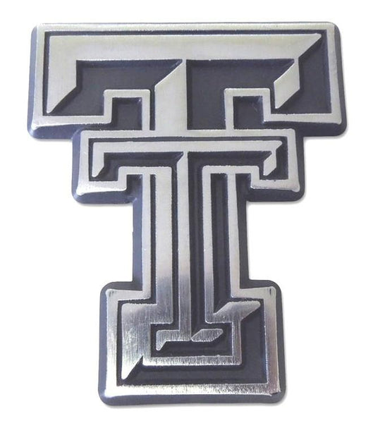 Texas Tech University Double T Matte Chrome Car Emblem