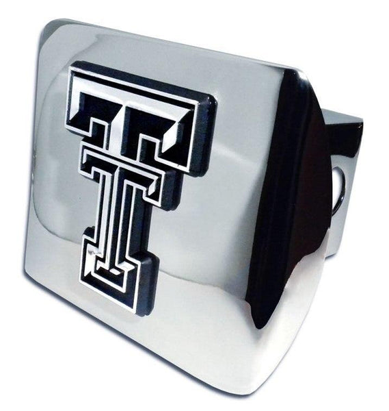 Texas Tech University Double T Shiny Chrome Hitch Cover