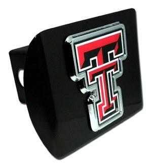 Texas Tech University Double T Color Emblem Black Hitch Cover