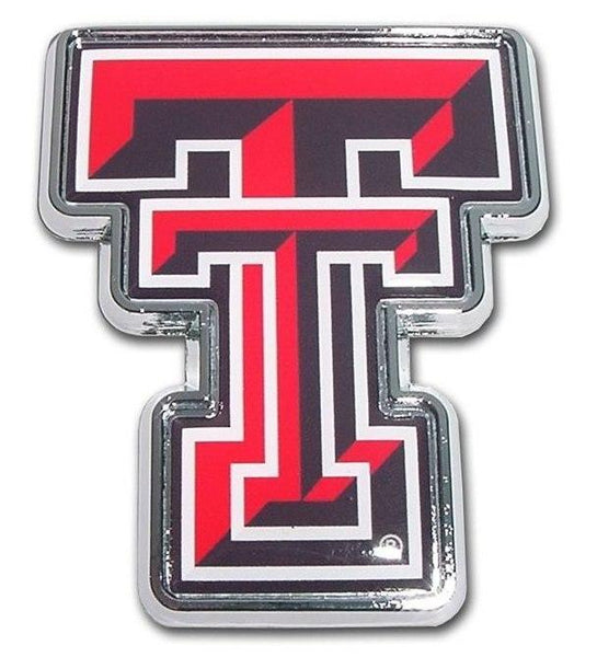 Texas Tech University Double T Color Car Emblem