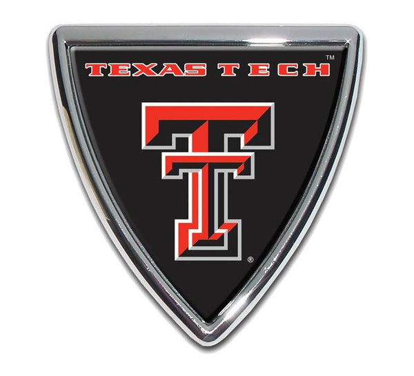 Texas Tech University Shield Chrome with Color Car Emblem