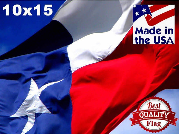 Two-Ply Polyester 10x15 Texas Flag - Texas Flags - I AmEricas Flags