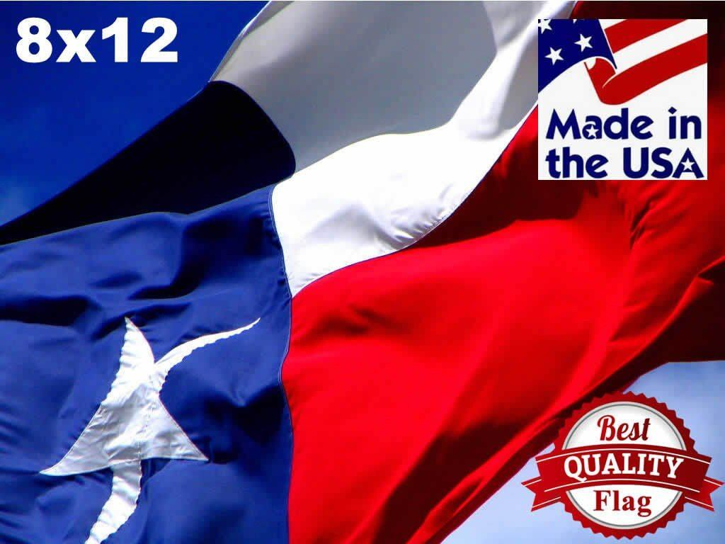 Two-Ply Polyester 8x12 Texas Flag