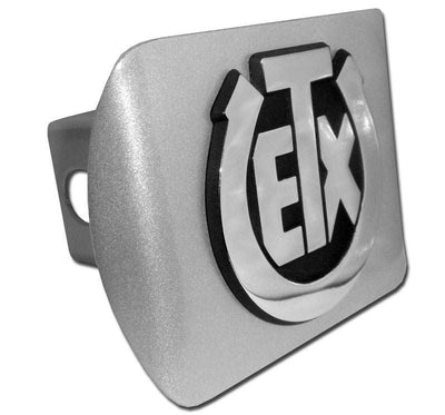 University of Texas Exes Brushed Chrome Hitch Cover