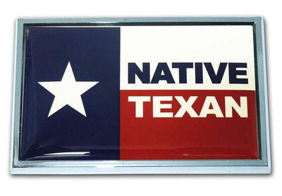 Native Texan Car Emblem SUV Size