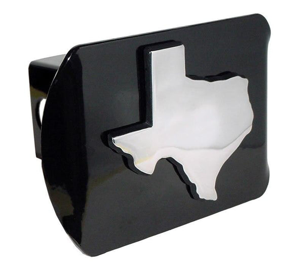 Texas State Shape Black Hitch Cover