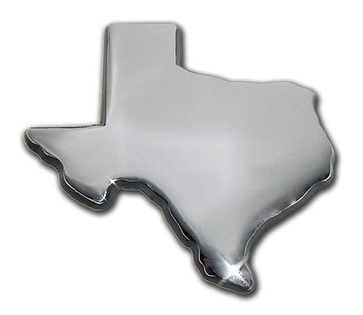Texas Shape Chrome Car Emblem