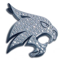 Texas State University Bobcat Crystal Chrome Emblem