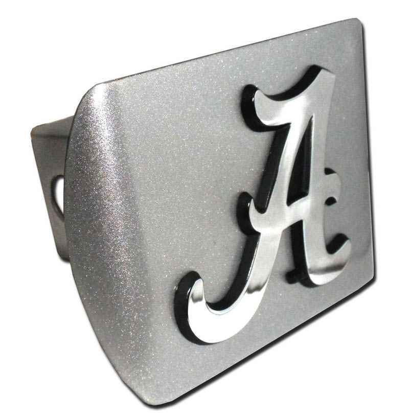 University of Alabama A Brushed Chrome Hitch Cover