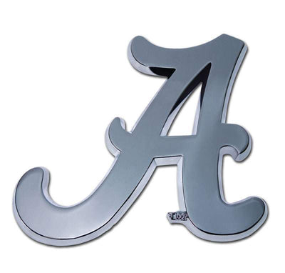 University of Alabama A Chrome Car Emblem