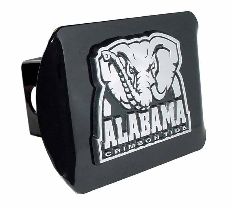 University of Alabama Crimson Tide Black Hitch Cover - Chrome Car Emblems | Trailer Hitch Covers/Collegiate Car Emblems/Alabama University - I AmEricas Flags
