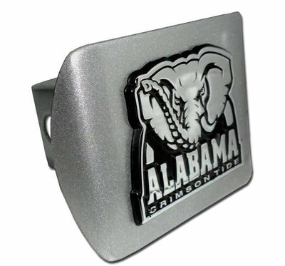 University of Alabama Crimson Tide Brushed Chrome Hitch Cover