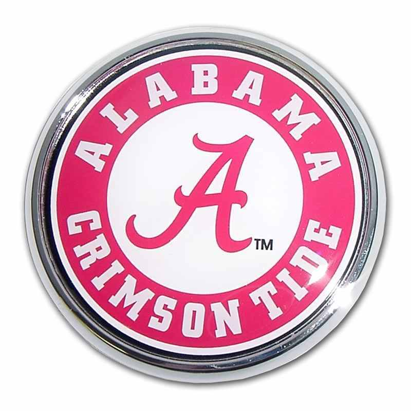 University of Alabama Seal Color Car Emblem