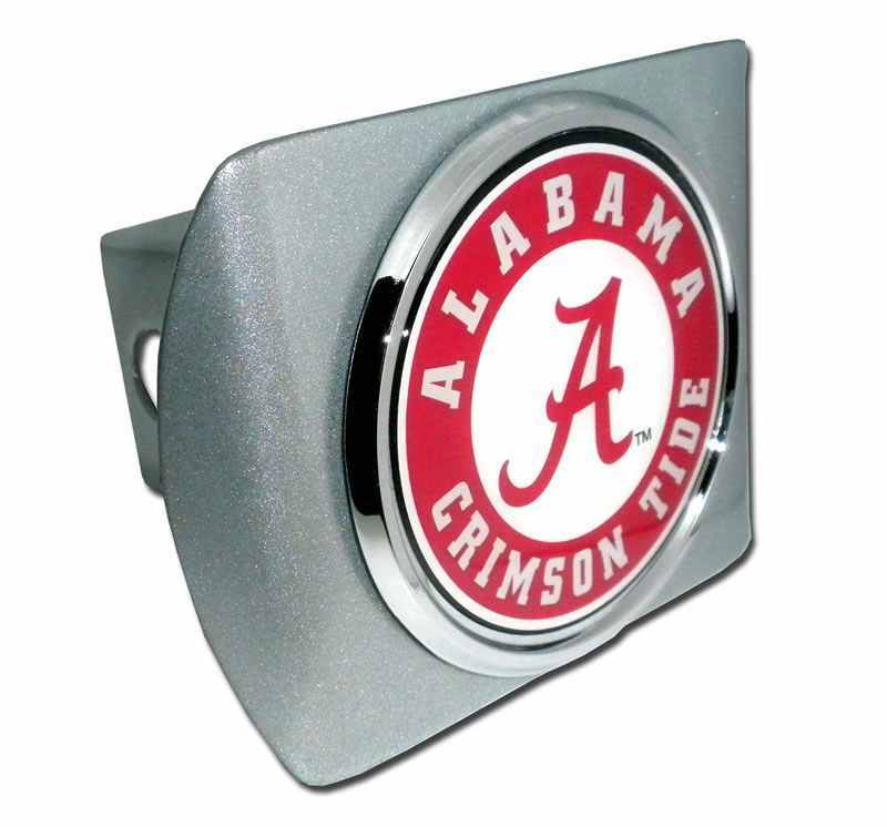 University of Alabama Seal Brushed Chrome Hitch Cover