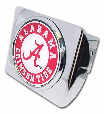 University of Alabama Seal Shiny Chrome Hitch Cover