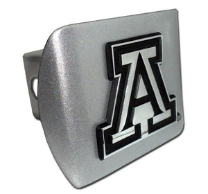 University of Arizona Brushed Chrome Hitch Cover