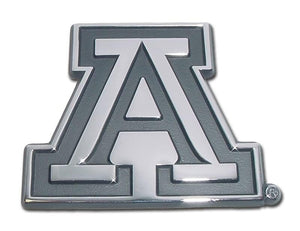 University of Arizona A Chrome Car Emblem