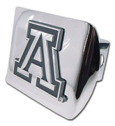 University of Arizona Shiny Chrome Hitch Cover