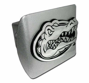 University of Florida Gator Head Brushed Chrome Hitch Cover